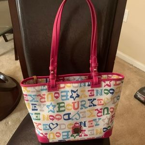 Dooney & Bourke Doodle Coated Cotton Small Leisure
